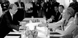Presiden Thein Sein dan Hilarry Clinton/Foto still4hill.com