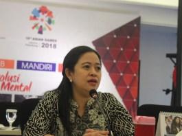 Menko PMP Puan Maharani saat Konferensi pers usai rapat koordinasi tingkat menteri di Kemenko PMK, Jakarta Pusat, Kamis (1492017). (Foto:Dok. NusantaraNews)
