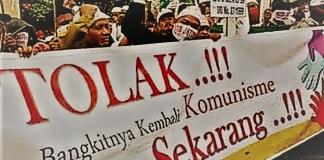 Demonstrasi menolak kebangkitan PKI dan Komunisme di Indonesia. (Foto: Ilustrasi/Antara)