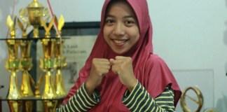Atlet Tarung Derajat UMK, Vinda Destyanasari. Foto: Dok. Humas UMK/ NusantaraNews.co