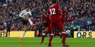 Tottenham Hotspurs sukses menundukkan Liverpool dalam lanjutan Liga Primer , Minggu (22/10) malam WIB. (Foto: Kieran McManus/BPI/REX/Shutterstock)