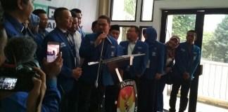 Pengurus DPP PAN hari ini mendaftarkan diri di KPU sebagai Partai politik peserta Pemilu 2019. Foto Ucok Al Ayubbi/ NusantaraNews