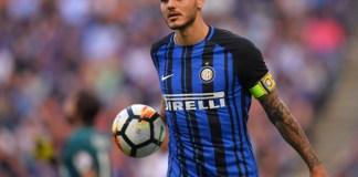 Striker Inter asal Argentina Mauro Emanuel Icardi Rivero sukses mencetak hattrick dalam Derby Della Madonnina di Giuseppe Meazza, Senin (16/10) dinihari WIB. (Foto: Squawka)