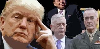 Ilustrasi Presiden Trump dan Para Koleganya di Gedung Putih