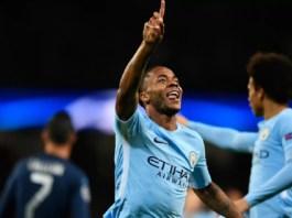 Raheem Sterling merayakan golnya ke gawang Napoli. (Foto: Getty Images)