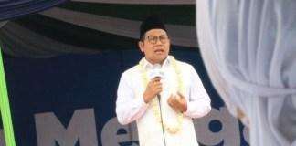 Bakal calon wakil presiden Muhaimin Iskandar saat hadir di Nusantara Mengaji di Lapangan Alun-Alun Kajen, Kabupaten Pekalongan, Sabtu (18/11/2017). (Foto: Istimewa/NUSANTARANEWS