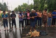 Demo Mahasiswa di Sumenep, Tagih Janji Politik pasangan Bupati Busyro dan wakilnya Fauzi. Foto: Dok. NusantaraNews/ Mahdi