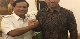 Agus Harimurti Yudhoyono dan Ketua Umum Partai Gerindra Prabowo Subianto. (Foto: Dok.Partai Demokrat)