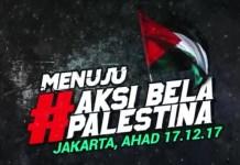 Aksi Bela Palestina (Poster). Foto Crop by NusantaraNews