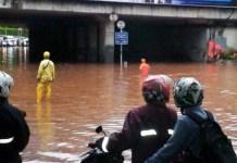 Banjir di Underpass Dukuh Atas/Foto: pojoksatu.id