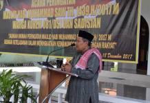 KH Munir memberikan ceramah di Korem 081 Dhirotsaha Jaya dalam rangka memperingati maulid nabi Muhammad SAW di Joglo Patih Gajah Mada di Jalan Pahlawan, Kota Madiun. Foto: Dok. Korem Madiun/Istimewa