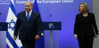 Perdana Menteri Israel Benjamin Netanyahu dan kepala kebijakan luar negeri Uni Eropa Federica Mogherini. Foto: Getty Images)
