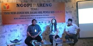 Panwas Nunukan ajak anak muda melek politik (Foto: Eddy Santri)