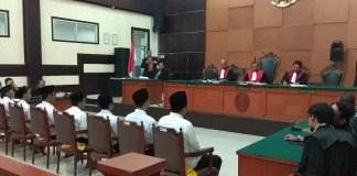 Sidang kasus bentrok geng motor (Foto Istimewa/Nusantaranews)