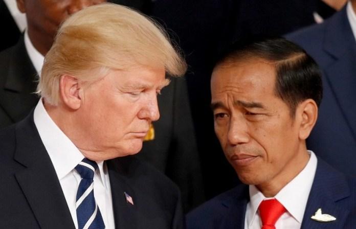 Presiden Joko Widodo dan Presiden Donald Trump. Foto: Dok. Pinterest