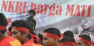 Diklatsar Banser PC GP Ansor Waykanan. Foto: Rizqiadeeva/ NusantaraNews