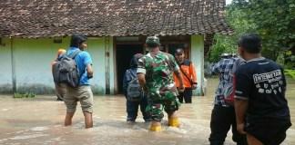 Banjir di Pilangkenceng, Kabupaten Madiun, Jawa Timur. (Foto: Istimewa)