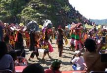 Pembukaan event budaya Kabupaten Jember, Performing Art Bolo Srewu Jaranan Barong di Pantai Payangan.