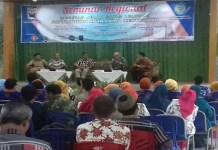 Seminar Meretas Jejak Sang Leluhur Patianrowo Kota Lama Kertosono. (Foto: Istimewa/NusantaraNews)