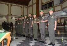 Pangdam V/Brawijaya, Mayjen TNI Arif Rahman merotasi sejumlah periwira menengah di lingkungan Kodam V/Brawijaya. (Foto: Istimewa)