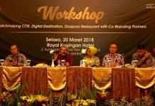 Workshop Matchmaking CoE, Digital Destination, Diaspora Restauran, with Co Branding Partners di Royal Hotel Kuningan, Jakarta, Selasa (20/3). (FOTO: Humas Kemenpar)