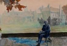 """Kakek dan Kenangan yang tak Juga Hilang. (Lukisan """"My Grandfather"""", by Treasured Whiskey. Foto: Art Cellar Gallery)"""