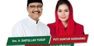 Saifullah Yusuf (Gus Ipul) dan Puti Guntur Soekarno atau Pasangan Gusti. (Foto: Facebook/Istimewa)