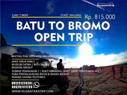 Open Trip Batu Bromo 2 Hari Harga Paket Wisata Malang Bromo