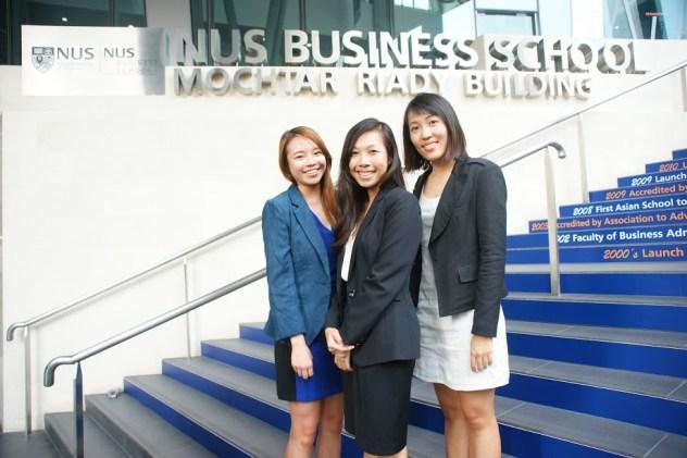From left to right: Simin Pearl Cheong, Jasmin Tan, Jun Jia Ang