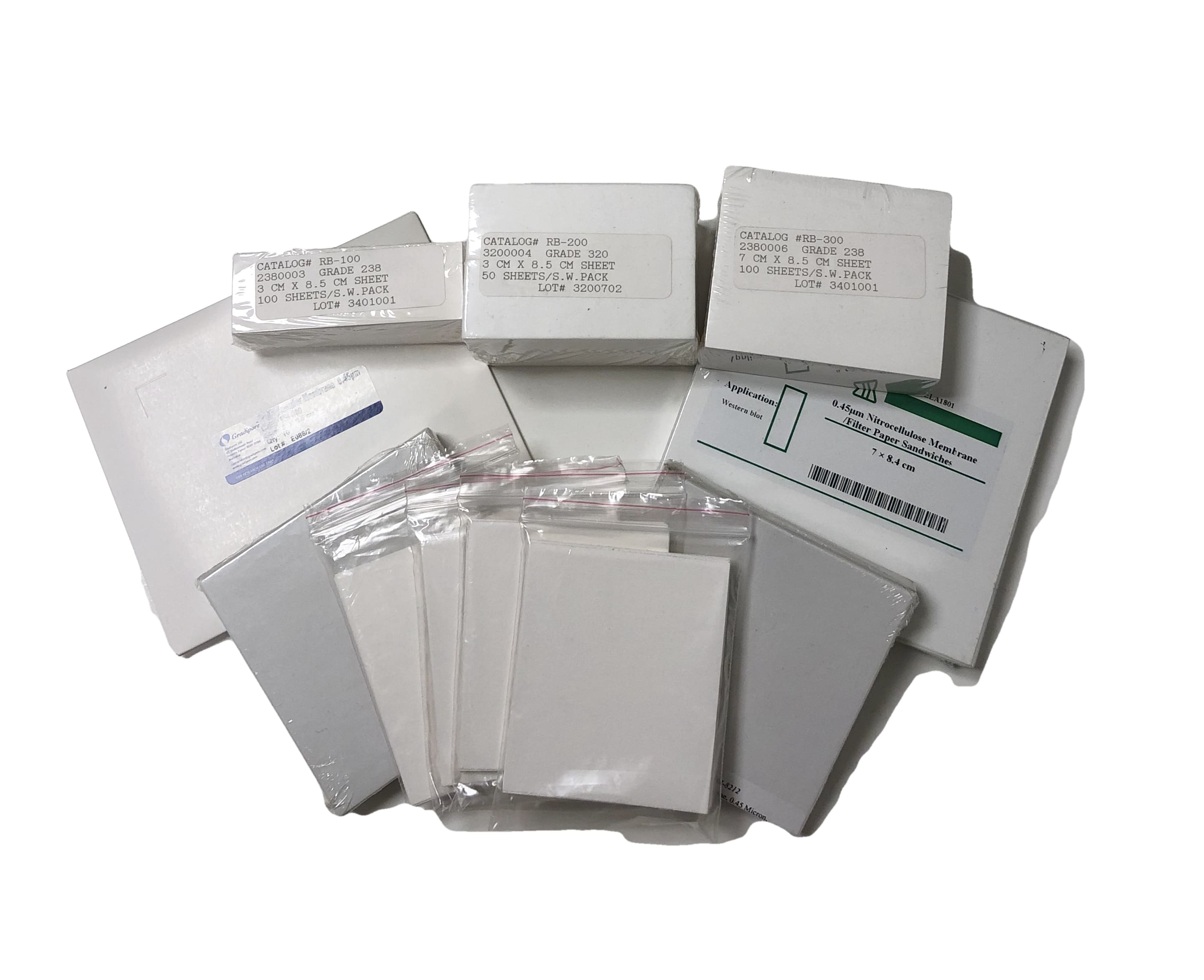 Western Blot Supplies - blotting paper, nitrocellulose membranes, and PVDF membranes