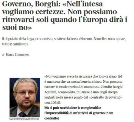 Articolo pubblicato sul Corriere della sera il 16 maggio 2018  per  leggerlo 7209213a3b9c