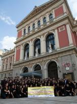 Photo outside Musikverein after our competition (Photo credits: Terence Low)