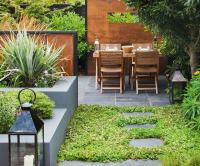 Slate Tiles Garden - Garden Ftempo