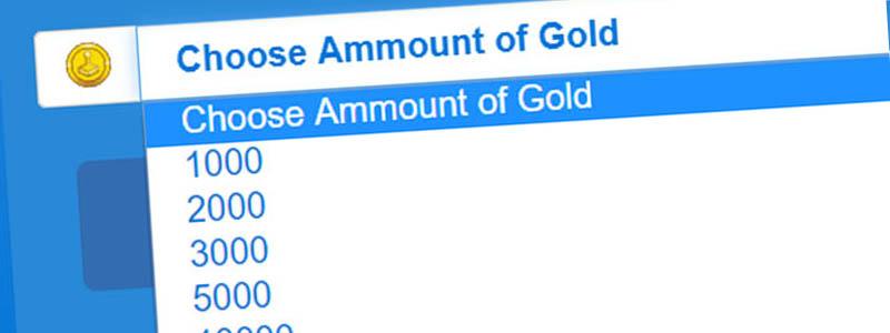 Image shows Nutaku Gold Cheat Tool (selecting amount of Gold)