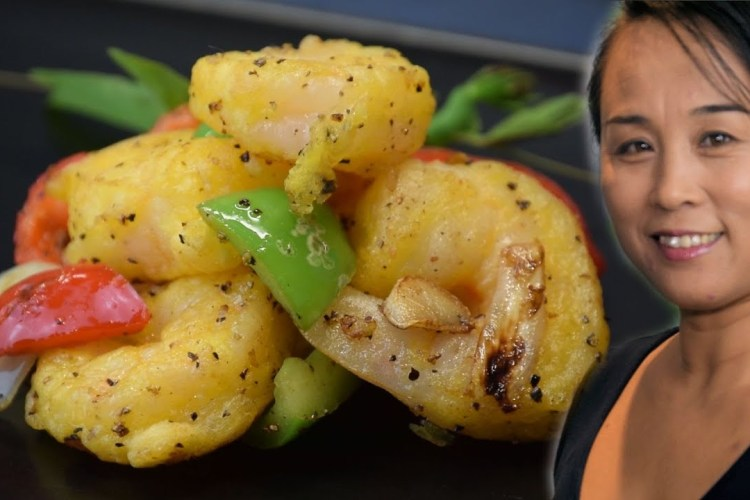Chinese Style Salt & Peppered Prawn Recipe
