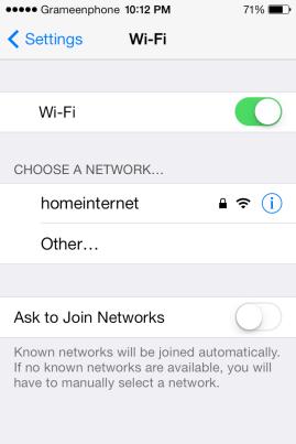 wifi is on