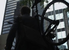 Patrick J. Adams with cycle