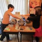 Making our Greek Helmets