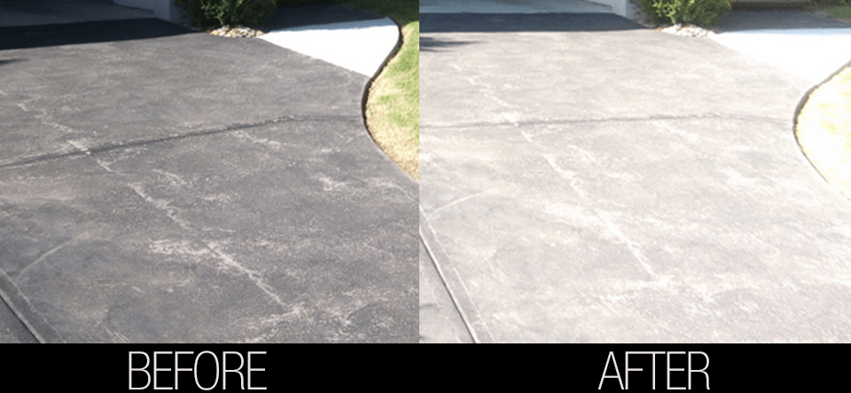 cleaning concrete using nutech ecosafe