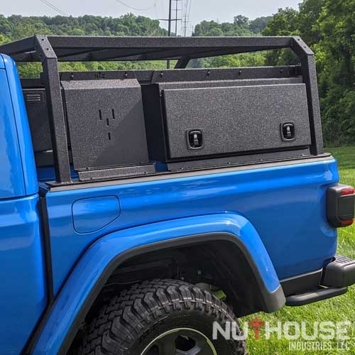 nutzo gladiator cab height expedition truck bed rack