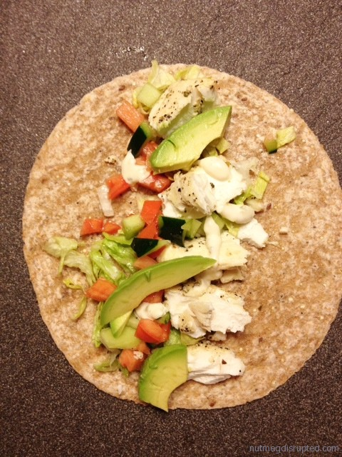 Butter Poached Hailbut Tacos with Avacado and Ponzu