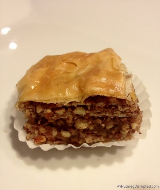 Making Baklava in the Nutmeg Disrupted kitchen