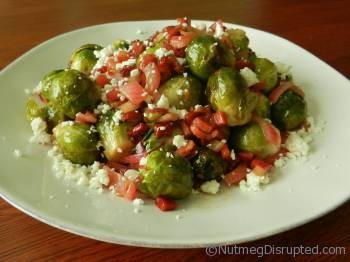 Southwest Roasted Brussels Sprout with Prosciutto at Nutmeg Disrupted