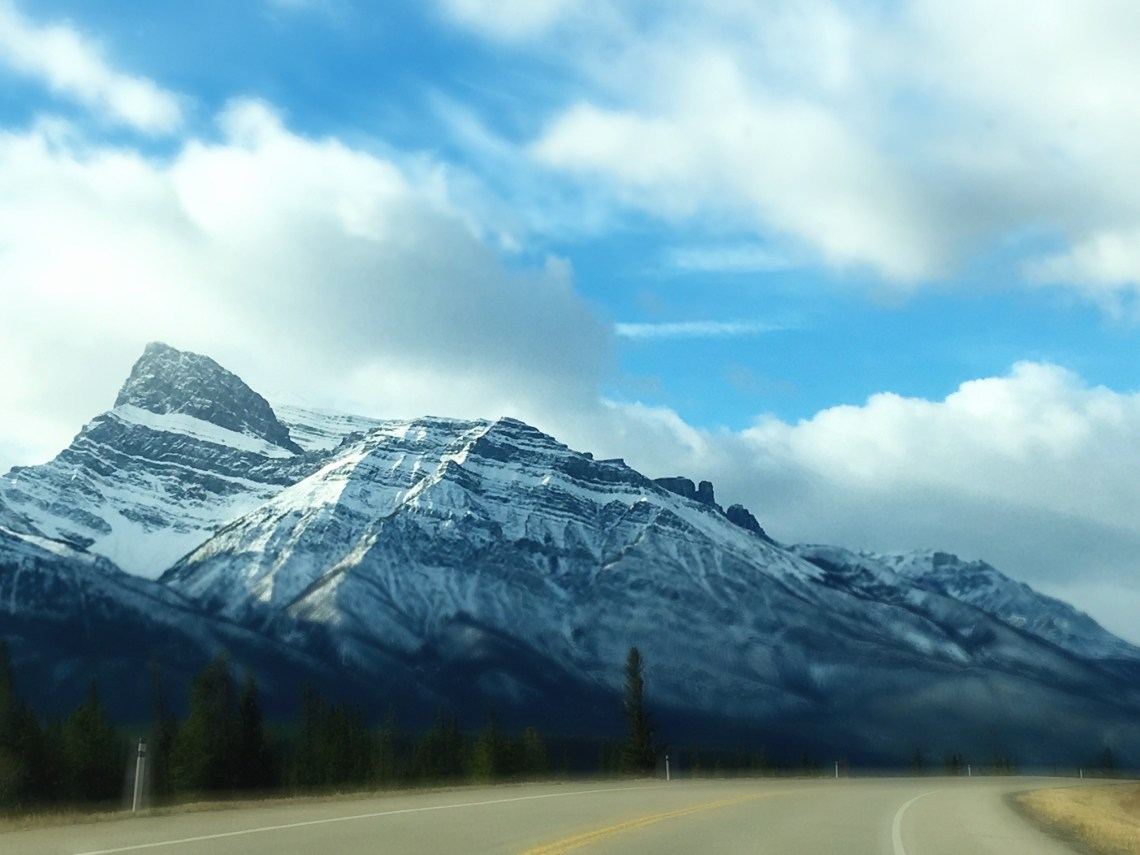 Driving through the Icefields Parkway on Nutmeg Disrupted