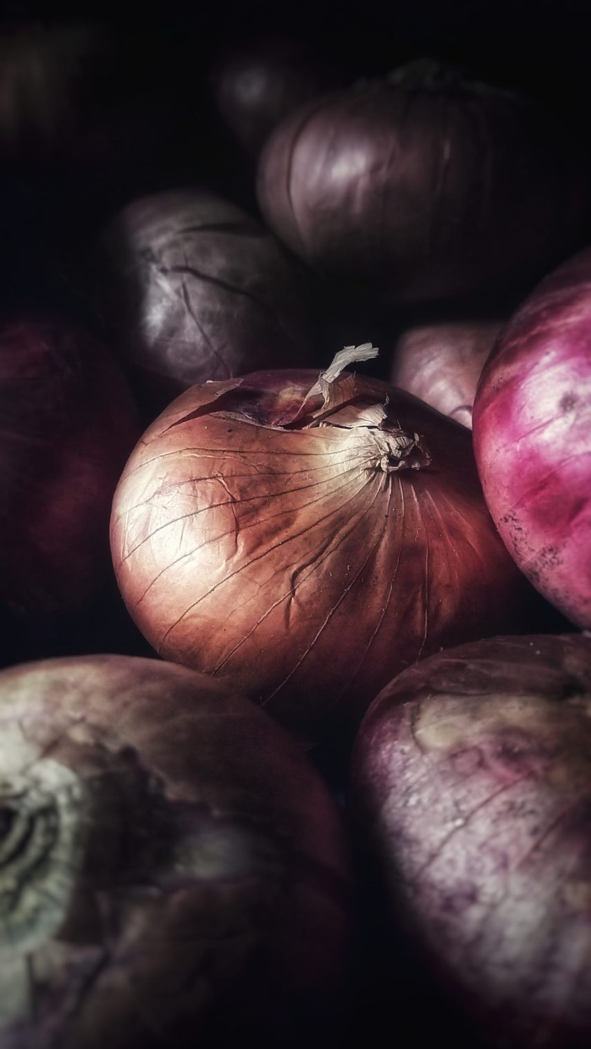 Beautiful red onions from Nutmeg Disrupted