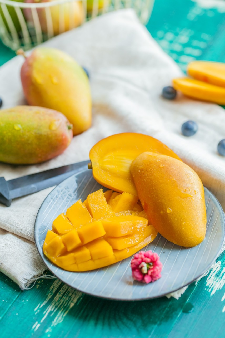 Fresh mangoes for pudding on Nutmeg Disrupted
