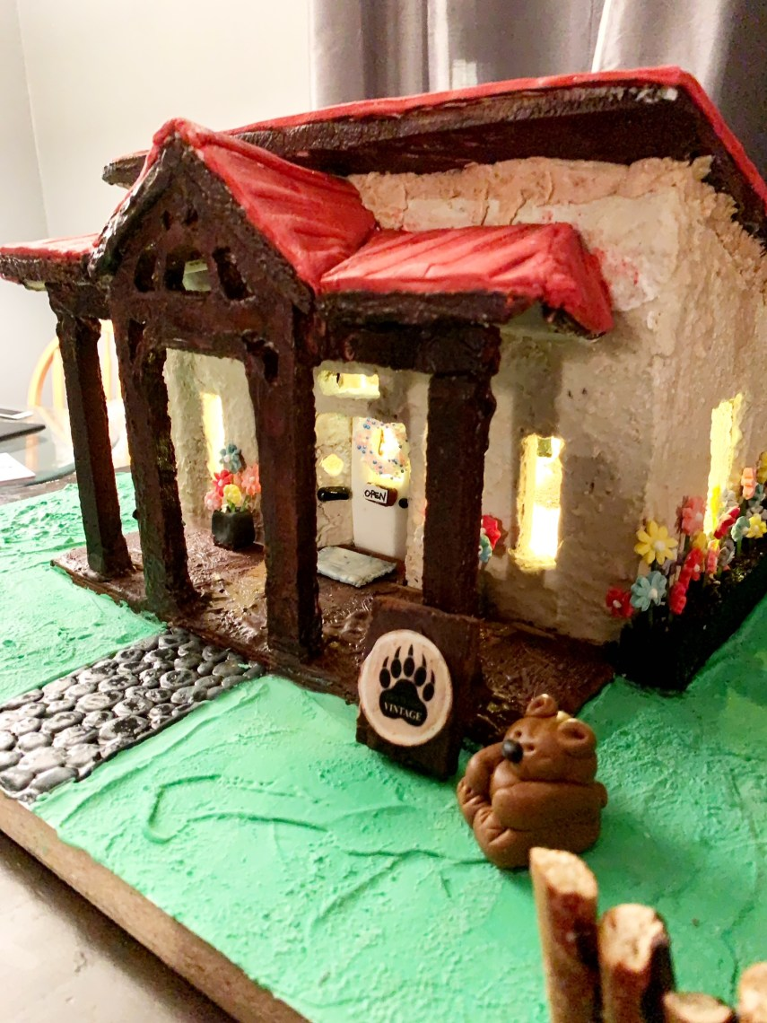 Bear In Mind Vintage Charity gingerbread build on Nutmeg Disrupted