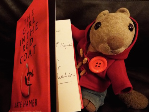 Squizz reading GirlInTheRedCoat