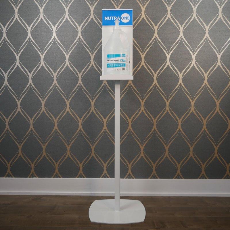 Hand sanitizer dispenser stand station