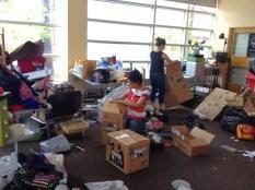 volunteers hard at work!